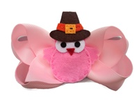 Funky Bows - Pink Turkey on Pink Bow