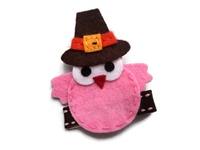FELT CLIP - Pink Turkey