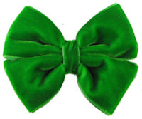 Basic Bows - Pinwheel - VELVET- Emerald Green