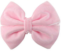 Basic Bows - Pinwheel - VELVET- Light Pink