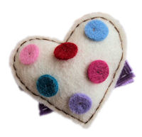 FELT CLIP - Puffy Colorful Heart