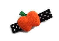 Halloween Clip - Pumpkin on Dots