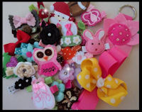 A Variety of 8 Random Hair Clips - PRINCESS