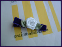 Roses - White Swirls on Royal Plum Velvet