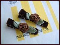 Roses - Brown Swirls on Deep Brown Velvet