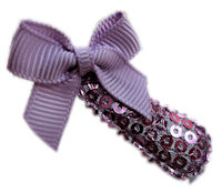 Cutie Snap Clips - Sparkle Princess - Lavender Bow