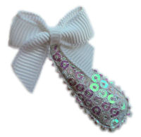 Cutie Snap Clips - Sparkle Princess - White Bow