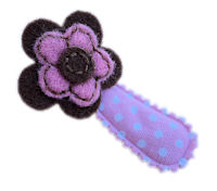 Cutie Snap Clips - Sophie - Brown and Pink Felt on Dots