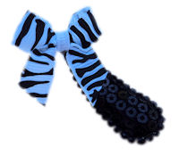 Cutie Snap Clips -Sparkle Princess - Zebra Bow on Black
