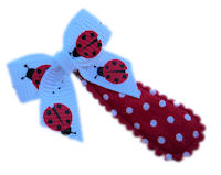 Cutie Snap Clips - Mini Bow - LadyBugs on Dots