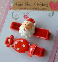Santa and Candy Clip Set