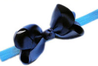 School Uniform - Navy Hair Bow + Headband