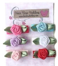 Infant Hair Pretties - Set of 6 - Pretty Roses