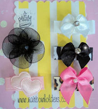 "Infant Hair Pretties - 5 ""My Lil Diva"" Bows - Starter Kit"
