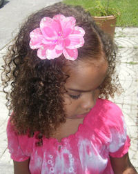 Flower Clip - Hot Pink Sequins
