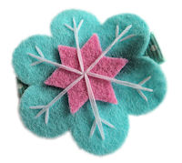 Pretty Snowflake - Aqua and Pink