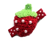 Crochet Clip - Strawberry Red