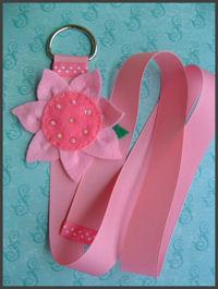 Felt SunFlower - Pink Hair Bow Holder