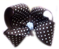 Basic Bows - Swiss Dots - Brown