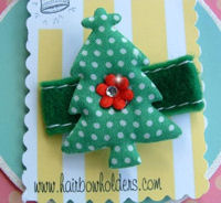 Christmas Tree - Green with Bling on Felt