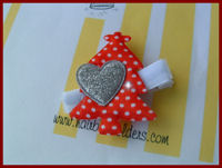 Christmas Tree Red - Sparkle Heart - SELECT YOUR HEART COLOR