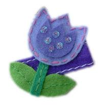 FELT CLIP - Tulip - Purple