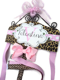 Hair Bow Holder - Animal Print - Cheetah (Light Pretty Pink)