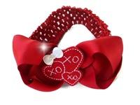 Valentine's Day XOXO Hair Bow + Headband