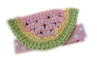 Crochet Watermelon Clip - LIGHT PINK