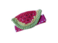 Crochet Watermelon Clip