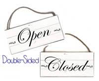 Boutique Sign - Open Closed - Rustic Classic