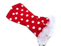 Pretty Leggings - Red and White Dots