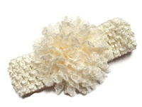 Lace Flower Headband - Ivory