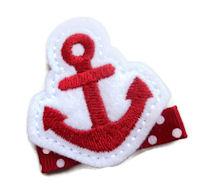 FELT CLIP - Anchors Away - Red