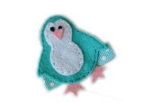 FELT CLIP - Aqua Penguin