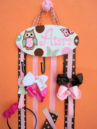 HeadBand + Bows Holder - Atara with OWL
