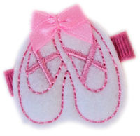FELT CLIP - Ballet Slippers - Pink