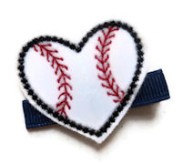 FELT CLIP - Baseball Heart