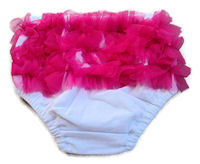 Princess Bloomers - WHITE with Hot Pink Tulle