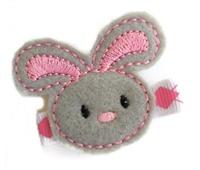FELT CLIP - Floppy Bunny on Argyle