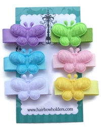 Infant Hair Pretties - Set of 6 - Butterflies Pastel