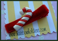 Candy Cane - on red velvet
