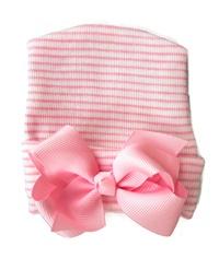 NEWBORN CAP - Bow - Baby Pink