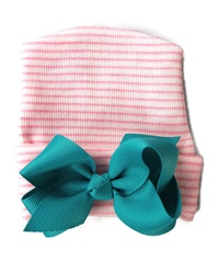 NEWBORN CAP - Bow - Teal