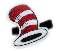 FELT CLIP - Cat In The Hat on Black Velvet