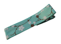 Cool Clips - Cherry Blossoms - Aqua Brown