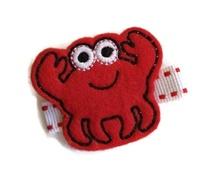 FELT CLIP - Crab Cutie