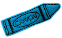 FELT CLIP - Crayon - Blue