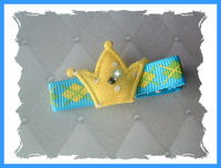 Blue & Yellow Argyle with CROWN bling!