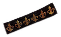 Cool Clips - Fleur de lis - Black and Gold